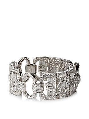 CZ by Kenneth Jay Lane Vintage Inspired Cz Link Statement Bracelet