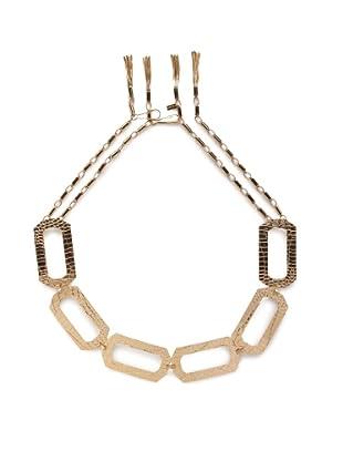 Tuleste Market Gold Rectangle Cutout Tassel Belt