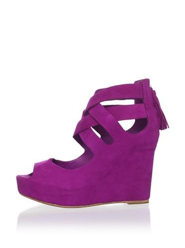 Dolce Vita Women's Jade Wedge Sandal (Magenta)