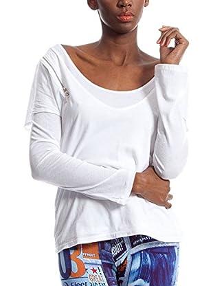 Custo Camiseta Manga Larga Alek White