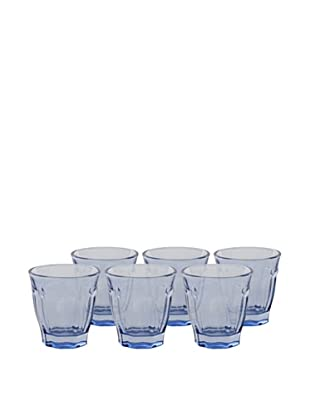 Couleur Nature Set of 6 Café Glasses (Blue)