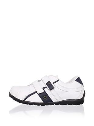Ortopasso Kid's Hook-and-Loop Sneaker (White/navy)