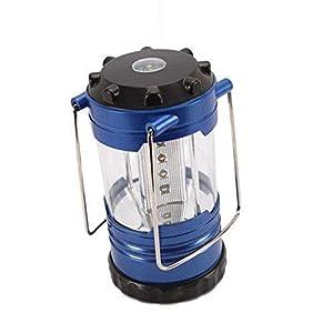 SahiBUY 12-LED Bivouac Light Emergency Lantern (7.2x7.2x14cm, Blue)
