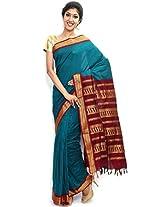 Sudarshan Silks Women Cotton Dress Material (Sud_Sbti10 _Blue _10)