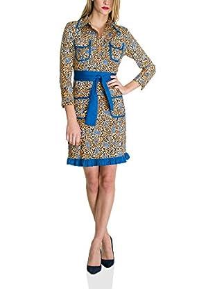 Almatrichi Vestido Camisero Leopard