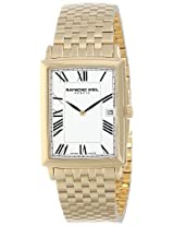 "Raymond Weil Men's 5456-P-00300 ""Tradition"" Gold-Plated Stainless Steel Bracelet Watch"