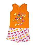 Pillerias Pijama Pollito / Corazones Ilium (Naranja)