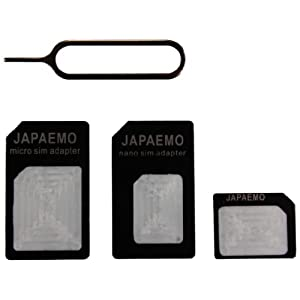 JAPAEMO 【Amazon限定】nano SIM変換アダプター 4点セット