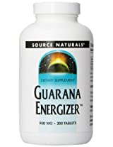 Source Naturals Guarana Energizer 900mg, 200 Tablets