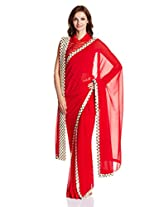 Abu Jani and Sandeep Khosla for Vogue Chiffon Saree with readymade blouse