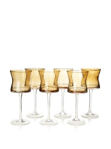 Artland Set of 6 Soho Goblets, Amber