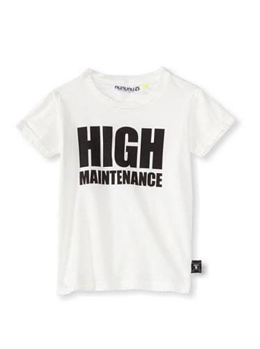NUNUNU Kid's High Maintenance Tee (White)