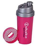 Ishake Hercules Shaker Bottle 700 ml , (Pink Body, Silver Cap)