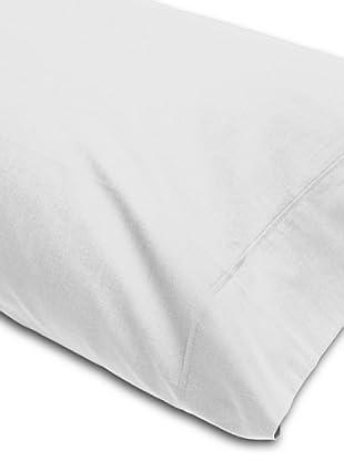 Abecé Funda de almohada Lisa (Blanco)