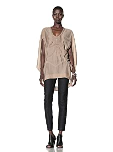 L.A.M.B. Women's Braided Embellished Tunic (Toffee)