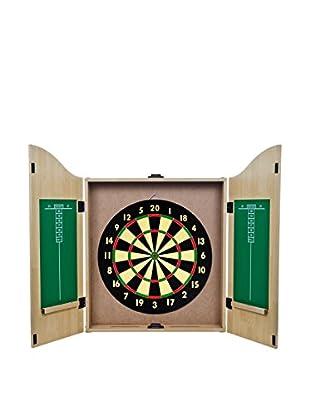 King's Head Value Dartboard Set, Light Wood