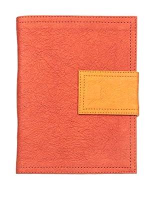 Marina Vaptzarov Medium Soft Vegetal Leather Cover Travel Diary, Red/Orange