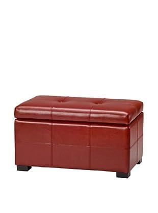 Safavieh Small Maiden Tufted Storage Bench, Red