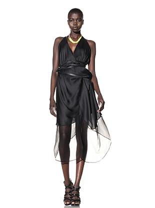 Improvd Women's Solange Sleeveless Racerback Wrap Dress (Black)