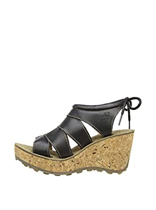Fly London Sandalias Gola Clogs (Negro)