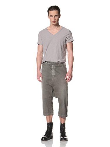 Rick Owens DRKSHDW Men's Tailored Swing Cropped Pant (Dark Dust)