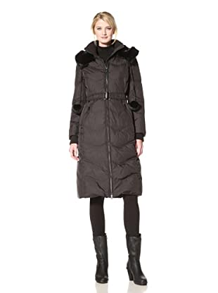 Via Spiga Women's Carla Belted Down Jacket (Black)