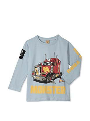 Monster Republic Boy's Monster Truck Tee (Grey)