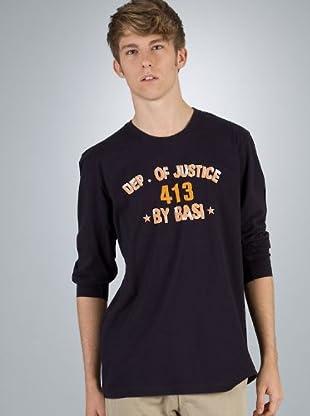 By Basi Camiseta Print (azul marino)