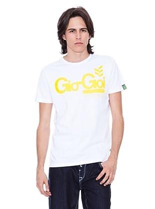 Gio Goi Camiseta Twistlab (blanco / amarillo)