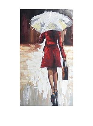 Legendarte Pintura al Óleo sobre Lienzo Piove!