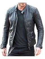 Zayn Leather Men's Leather Jacket (428_WLJ_Black_Large)