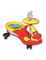 Toy Plus Swing Magic Musical Car Red & Yellow Color