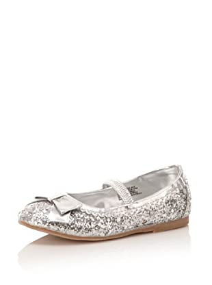 L'Amour Shoes Sparkle Mary Jane Flat (Toddler/Little Kid) (Silver)