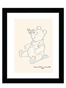 "Pooh Bear Makes a Friend, 16"" x 13"""