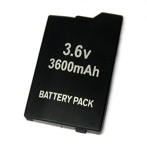 【クリックで詳細表示】PSP-1000専用 大容量バッテリーパック◇3600mAh