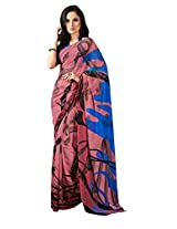Pink Color Georgette Printed Saree with Blouse 7011