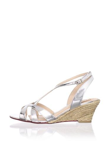 Schutz Women's Jute Demi Wedge Sandal (Prata)