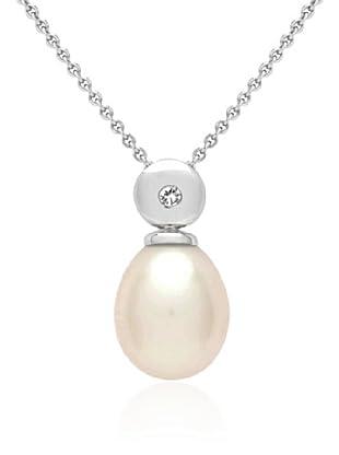 Secret Diamonds Anhänger (ohne Kette) Silber Diamant Süßwasserzuchtperle