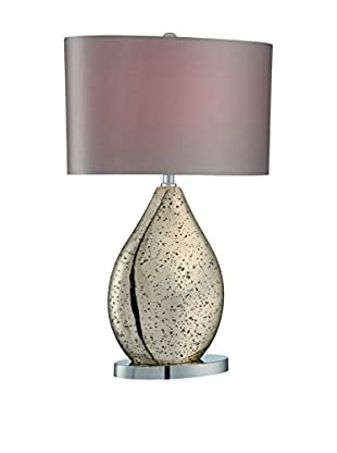 Lite Source Mandalay 1-Light Table Lamp, Gold, Beige