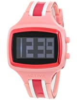Activa By Invicta Unisex AA401-011 Black Digital Dial Pink, White and Dark Pink Polyurethane Watch