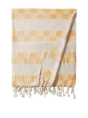 Nomadic Thread Handwoven Towel Cube, Natural/Mustard