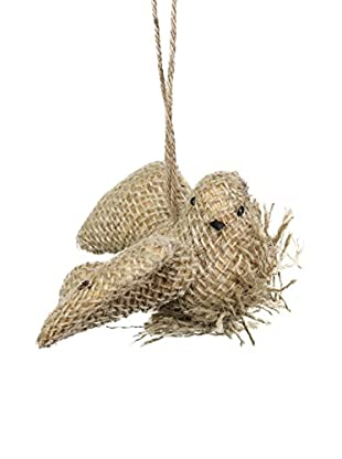 Sage & Co. Burlap Bird On Nest Ornament