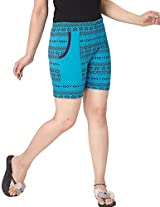 KuuKee Womens Shorts (9095_Blue_L)