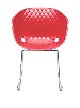 Metalmobil Stuhl Unika-595 rot