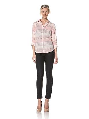 Trovata Women's Amalie Button Down Shirt (Red Stripe)