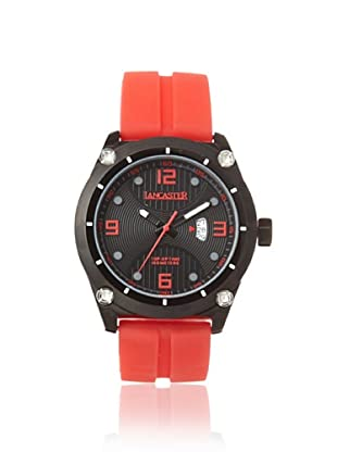 Lancaster Men's OLA0481NR-RS-RS Black/Red Silicone Watch
