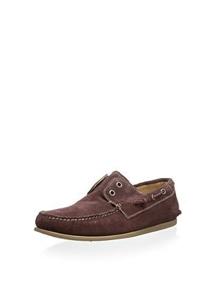 John Varvatos Men's Schooner Boat Shoe (Oxblood)