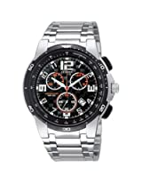 Citizen Eco-Drive AN7060-52F Black Round Dial Chronograph Men Watch