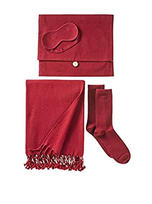 Nine Space Cashmere Travel Set, Red