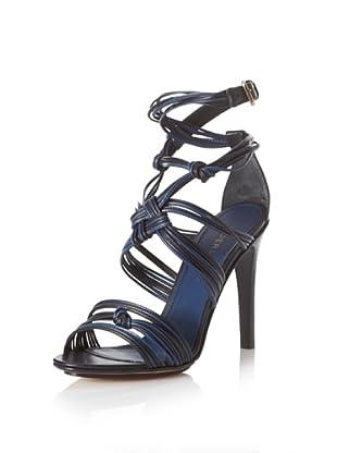Derek Lam Women's Knotted Sandal (Black/Navy)